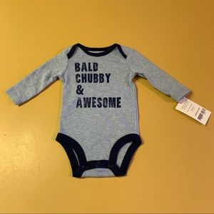 Bald chubby and awesome onesie